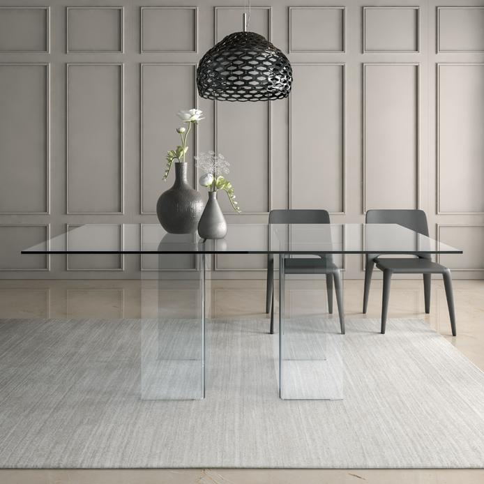 Tavolo di vetro tavoli economici tavoli di vetro per salotto for Tavoli in vetro allungabili economici
