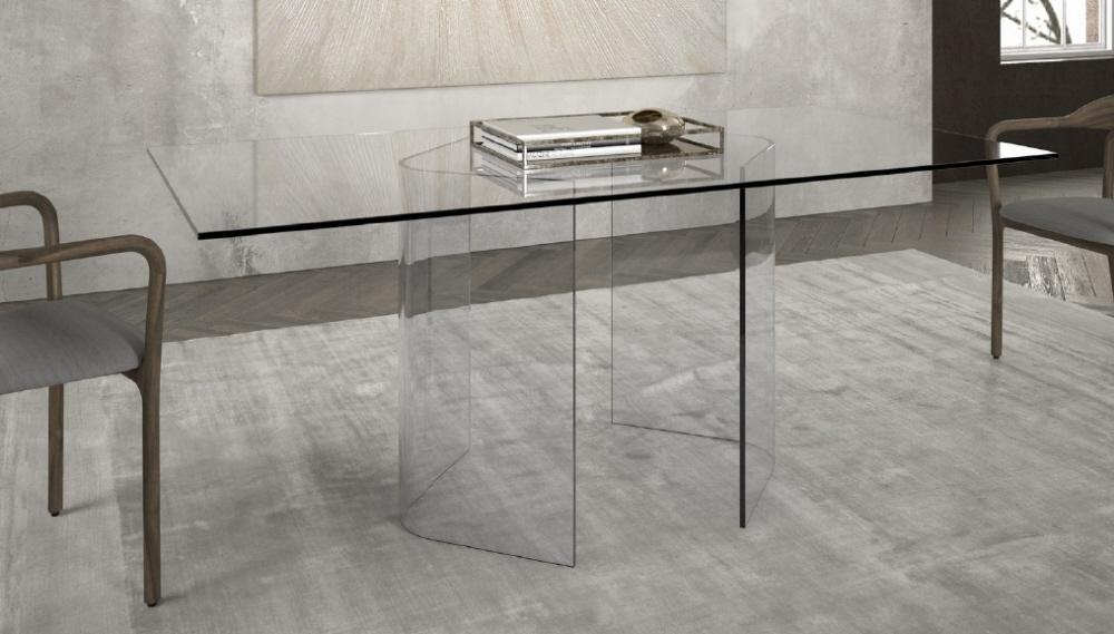 Tavolo vetro vendita tavoli cristallo moderno prezzi sconti for Tavoli moderni vetro
