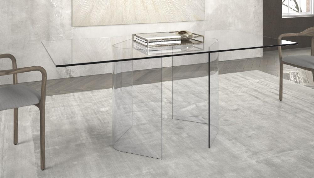 Arredamento tavolo in vetro arianna arredamento tavolo da for Offerte tavoli da pranzo