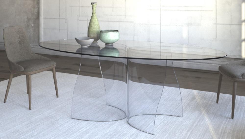 Arredamento salotto arredamento tavolo sa salotto in vetro - Tavolo corner riflessi prezzo ...