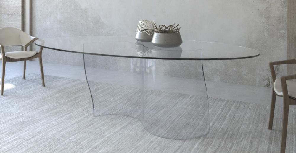 Tavoli Di Vetro Ovali : Tavolo vetro vendita tavoli cristallo moderno prezzi sconti