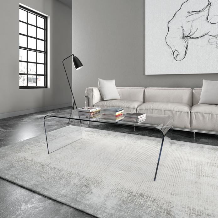 Tavolini in vetro design Tavolino in vetro curvo sagomato