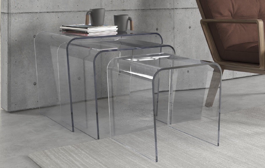 Tavolini ponte tris gambe oblique - Tris tavolini da salotto ...