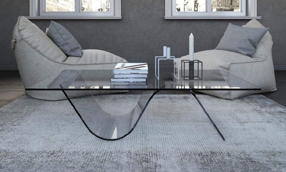 Tavolini design vetro tavolo onda tavolini design vetro for Tavolini vetro