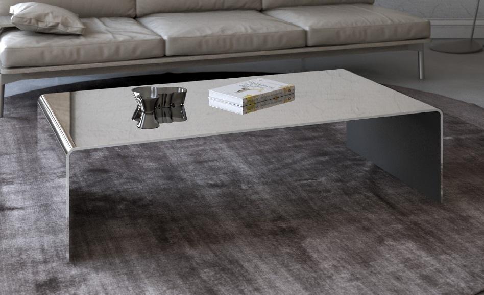 Tavolino in vetro ponte curve strette tavolino da salotto for Specchio salotto