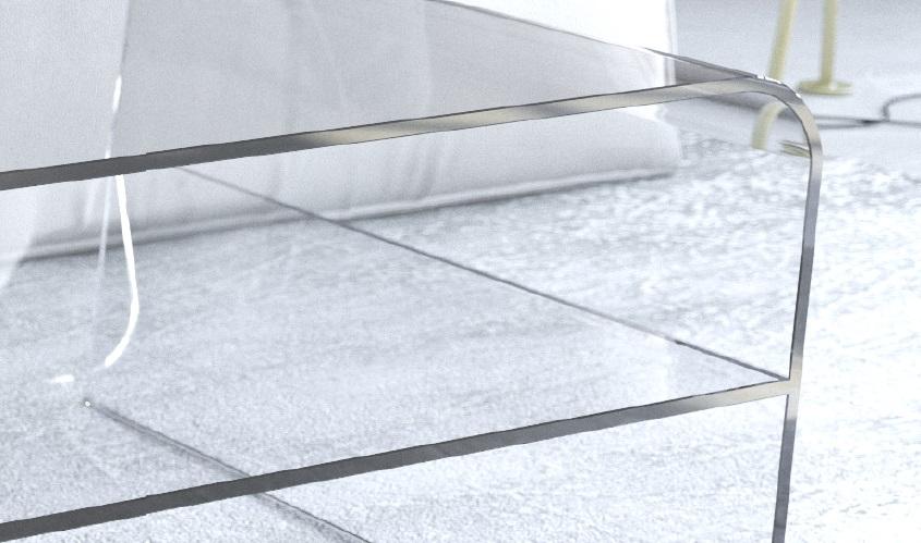 Ripiano In Vetro Per Tavolo.Tavoli In Vetro Gambe Oblique Con Ripiano