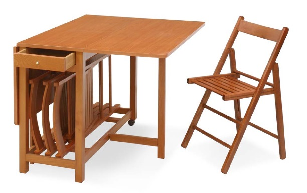 Tavolo mat tavolo ribaltabile con piano e allunghe in legno - Tavolo quadrato allungabile ikea ...