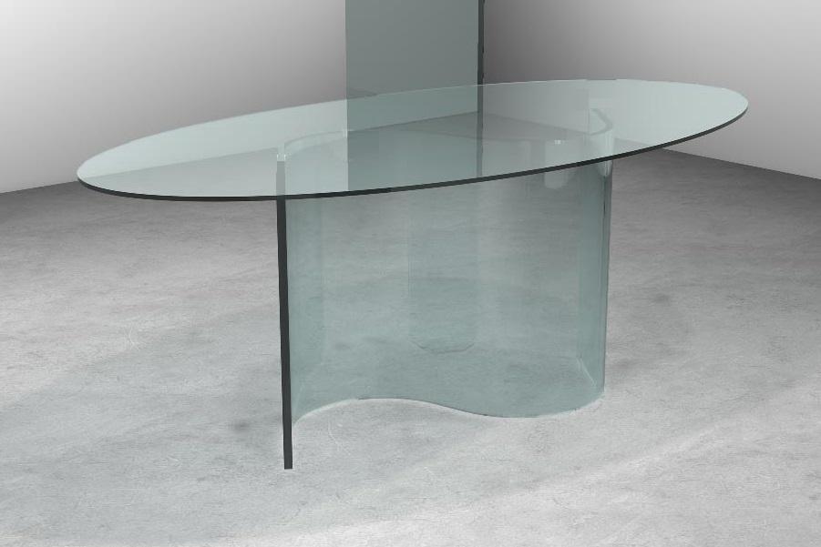 Tavolo in cristallo trasparente tavolo snake tavolo in for Tavolo pranzo trasparente