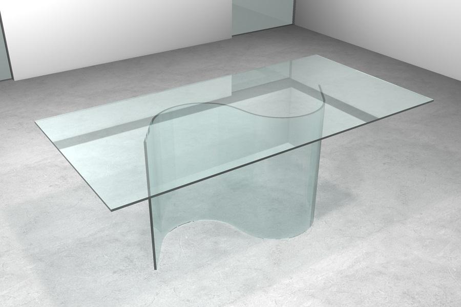 Tavolo Da Pranzo Trasparente: Tavolo in cristallo cubo trasparente.