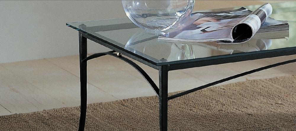 Tavoli da salotto classici in ferro battuto acciaio e vetro for Tavoli di vetro da salotto