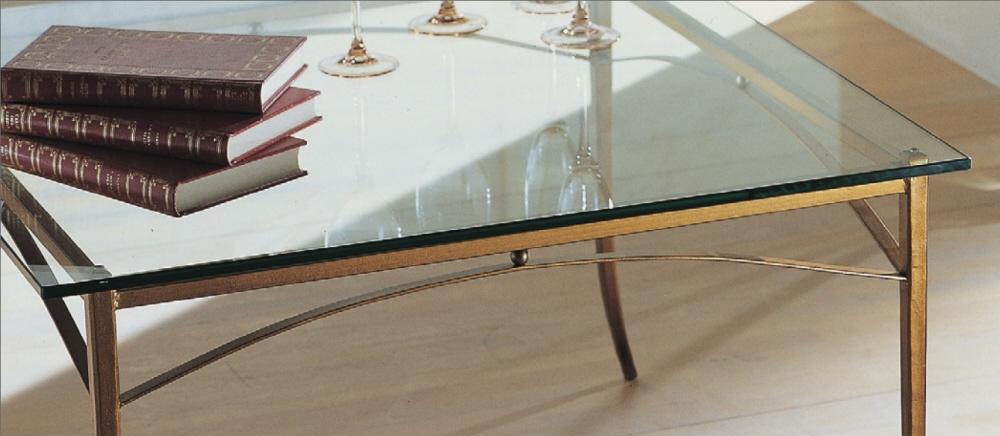 Tavoli In Cristallo Classici.Tavoli Da Salotto Classici In Ferro Battuto Acciaio E Vetro