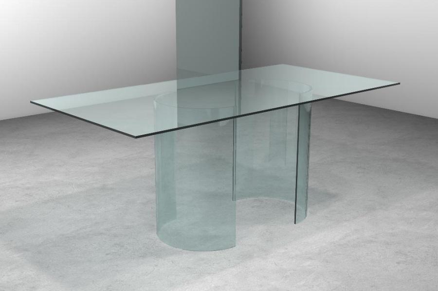Tavolo in cristallo trasparente tavolo twin tavolo in for Tavolo pranzo trasparente