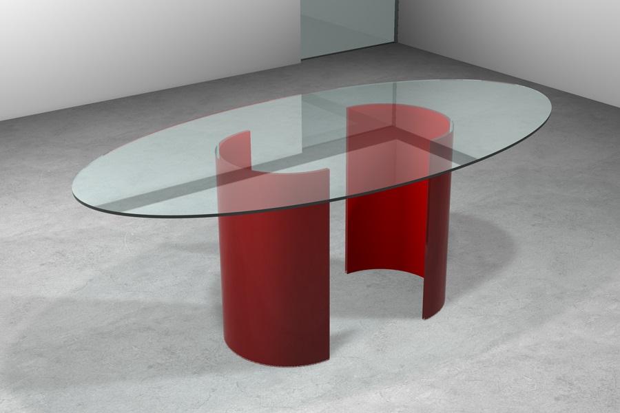 Tavolo vetro vendita tavoli cristallo moderno prezzi sconti - Tavolo pranzo cristallo ...