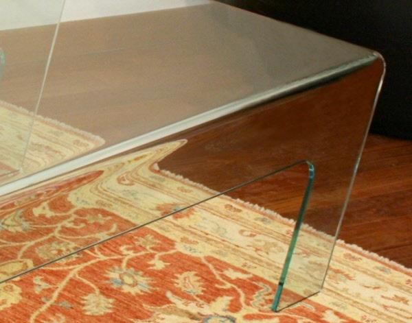 Tavolini design vetro tavolo trapezio tavolini design - Base per tavolo in vetro ...