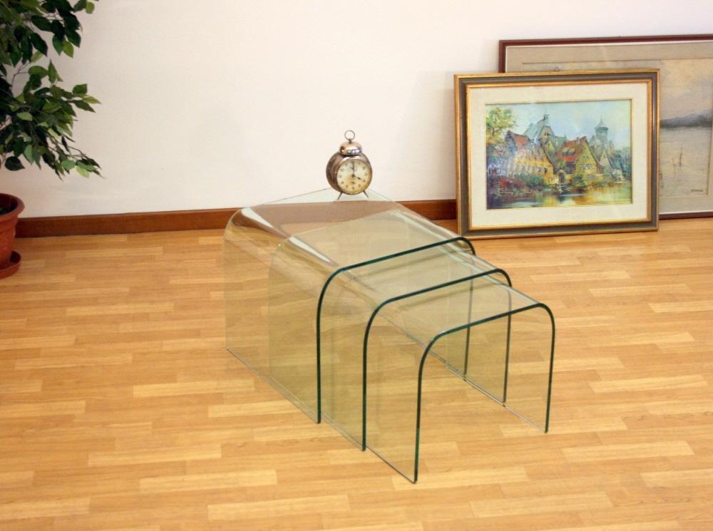 Tavolini ponte bis sagomati tavolini da salotto in vetro - Tris tavolini da salotto ...