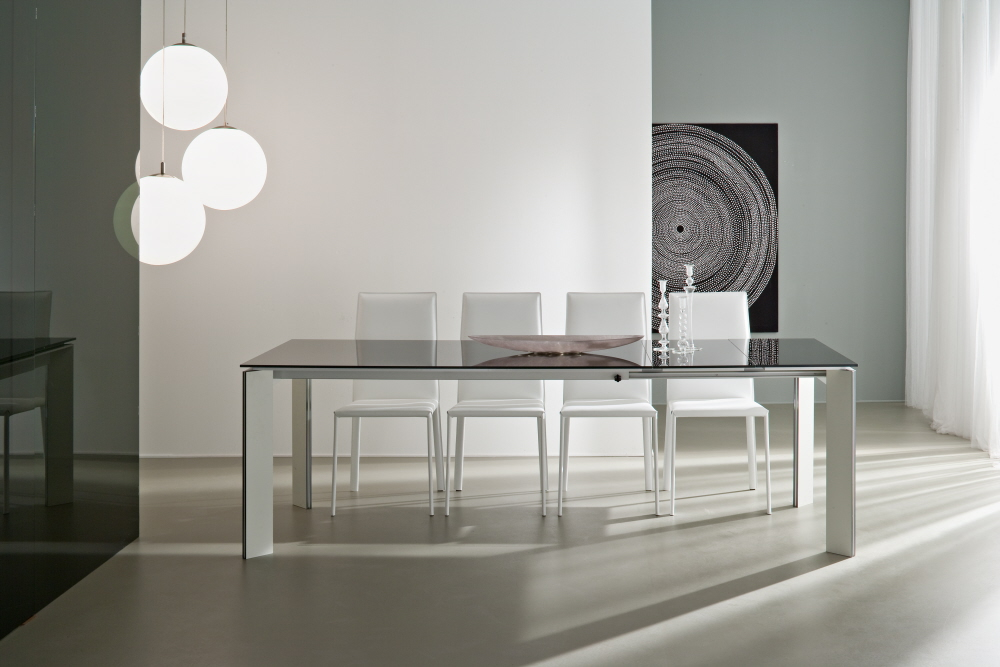 Tavolo allungabile world casa - Table en verre ovale avec rallonge ...