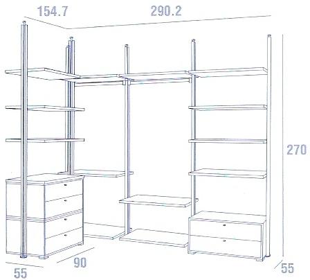 Ingresso mobili cabina armadio cabina armadio natasha - Appendiabiti per cabina armadio ...