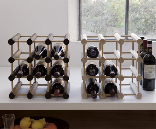 Portabottiglie canty portabottiglie per ordinare il vino la cantinetta modulare ed elegante - Portabottiglie di vino in legno ...