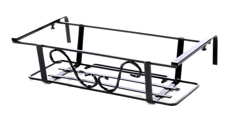 Balconiera regolabile con tubo vendita balconiere regolabili for Portavasi in ferro