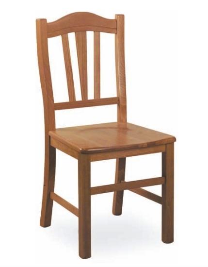 Sedia rustica silvana seduta in legno sedia in legno di for Sedie legno per cucina