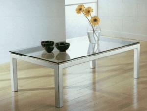 Tavolo cristallo tavolo metallo acciaio tavolo design for Mercatone uno tavolini da salotto