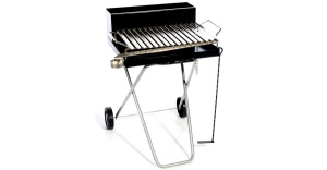 Barbecue con griglia inox raccogli sugo