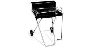 Barbecue con griglia in acciaio tondino