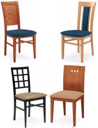 sedie in legno con seduta imbottita