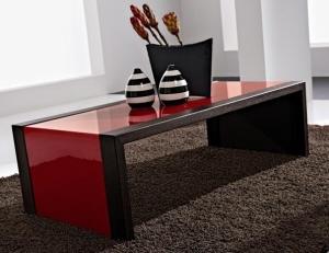 Tavolini da salotto in vetro Design moderno base in metallo