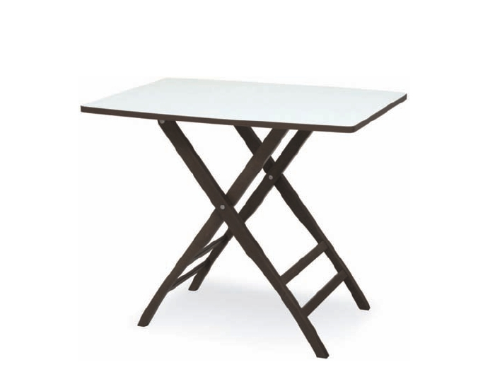 Tavolo da giardino pieghevole rio tavolo pieghevole con piano in melaminico e struttura in - Tavolo pieghevole da giardino ...