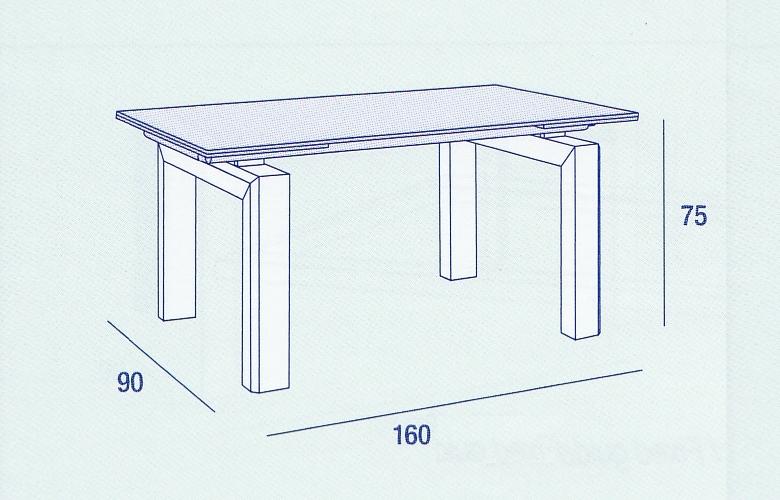 Tavoli da salotto con base in legno e piano in vetro - Tavolo da pranzo misure ...