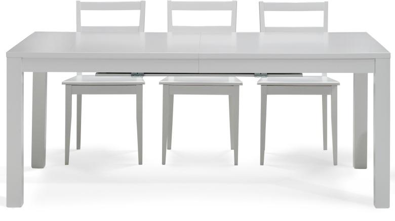 Vendita tavoli moderni in legno di faggio laccato bianco for Tavoli moderni in legno