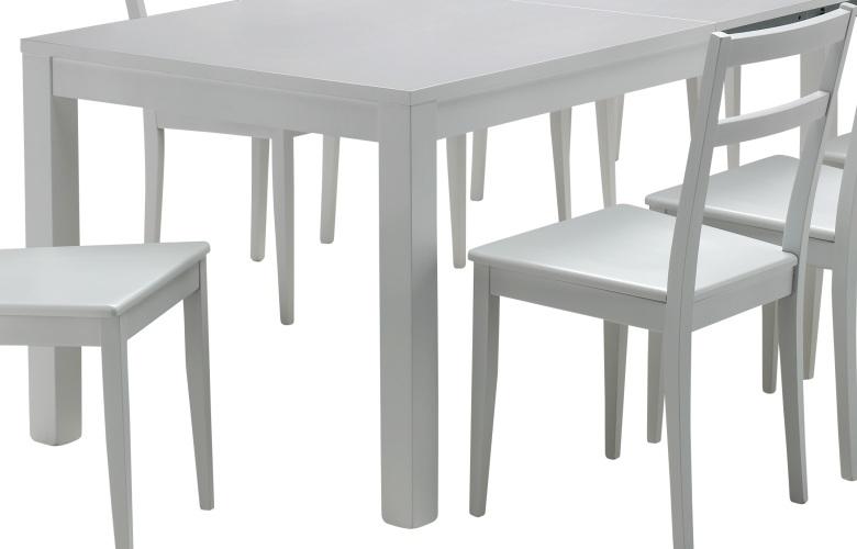 Vendita tavoli moderni in legno di faggio laccato bianco for Tavolo in legno bianco
