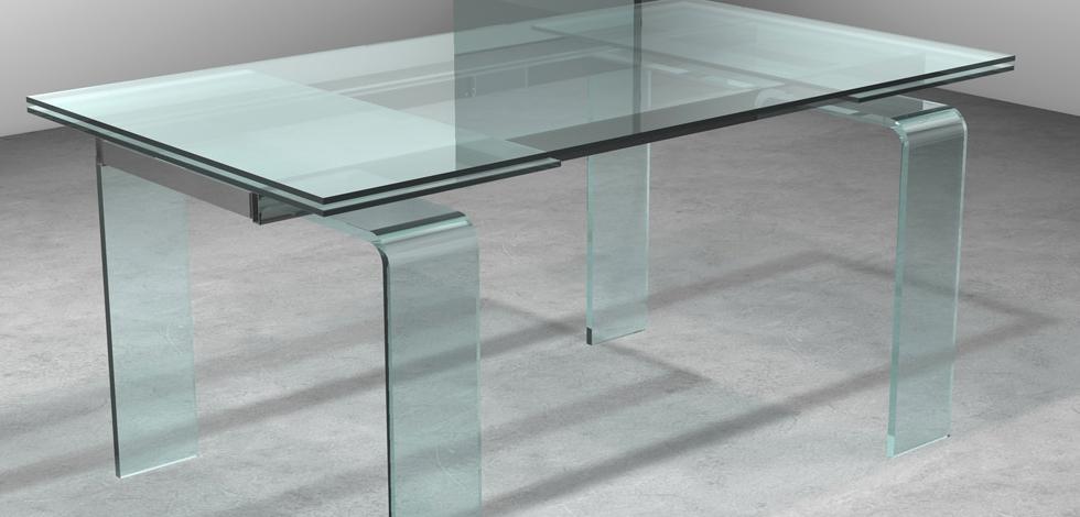 Tavolo allungabile vetro bond midj idee per il design for Tavolo allungabile mondo convenienza