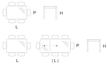 Tavolo Creta dimensioni