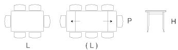 Dimensioni tavolo Rieti