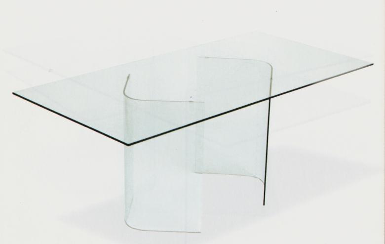 Arredamento tavolo in vetro arianna arredamento tavolo da - Tavolo pranzo vetro ...