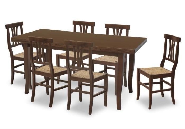 Tavolo in legno di faggio allungabile tavolo arte povera - Tavolo ovale allungabile arte povera ...