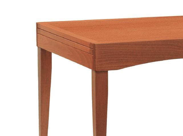 Tavolo quadrato allungabile o ribaltabile in legno. Vendita