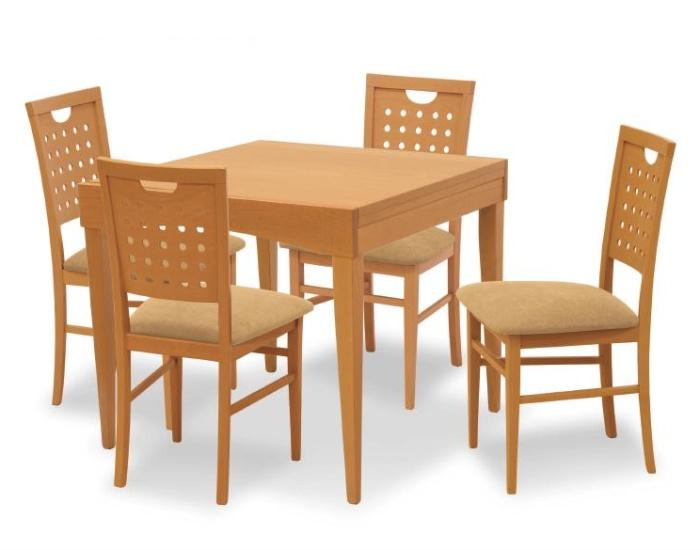 Tavolo in legno di faggio davos cm 90 x 90 x for Tavolo 90 x 90 allungabile