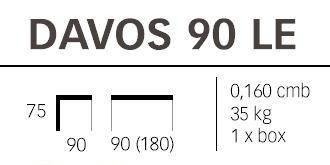 Dimendioni del Tavolo in legno Davos