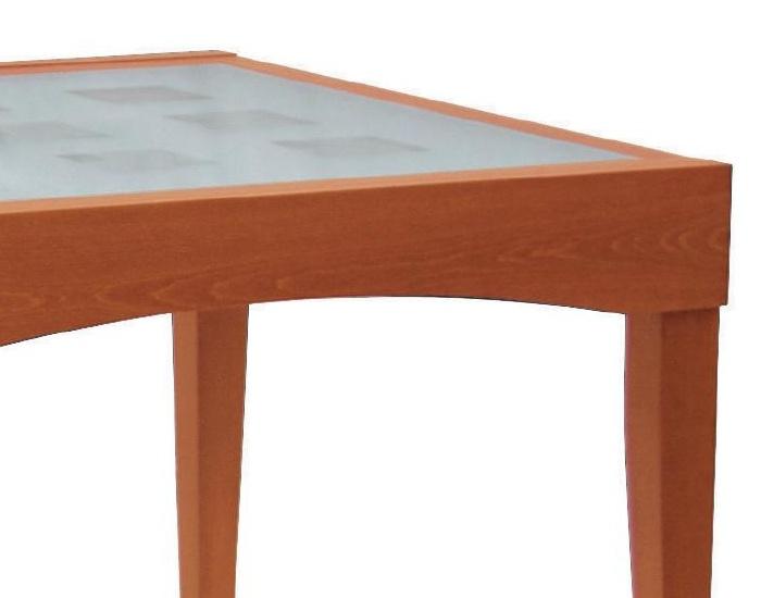 Tavolo Allungabile Ciliegio Vetro.Tavolo Con Piano In Vetro Davos In Legno Di Faggio