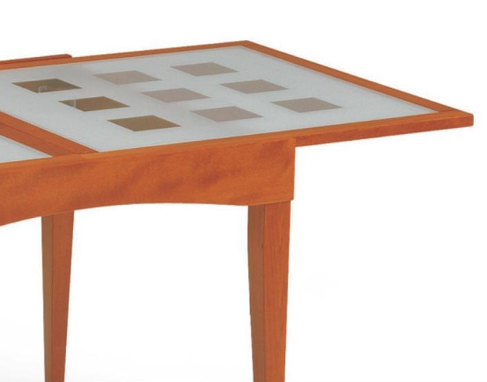 Tavolo con piano in vetro davos in legno di faggio for Tavolo vetro legno