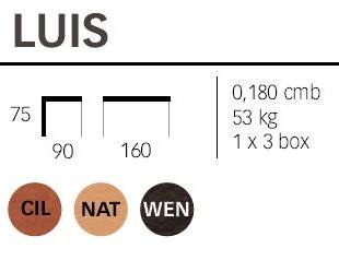 Dimensioni tavolo Luis
