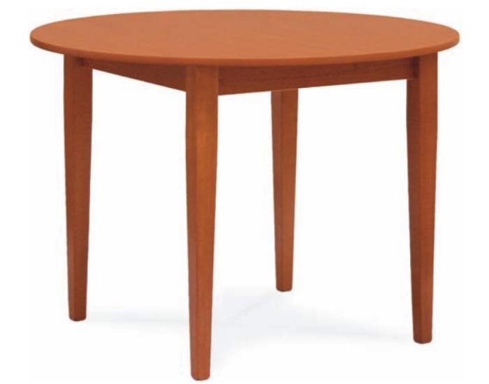 Tavolo pais rotondo allungabile tondo bianco e ciliegio - Tavolo rotondo allungabile legno ...