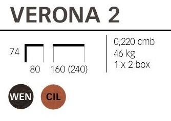 Dimensioni tavolo Verona