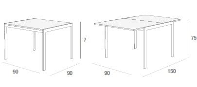 Dimensioni tavolo Lino