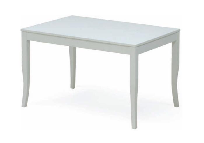 Tavolo da cucina. Tavolo laccato bianco. TAVOLO RODI