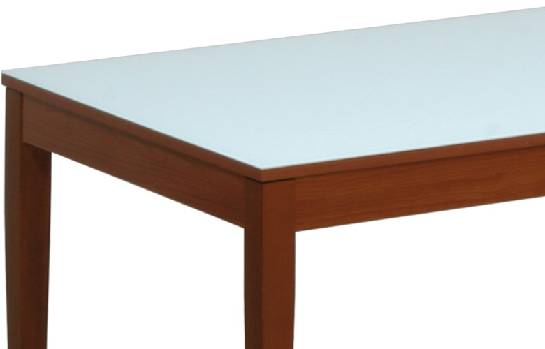 Tavolo Allungabile Ciliegio Vetro.Tavolo Con Piano In Vetro Alex N