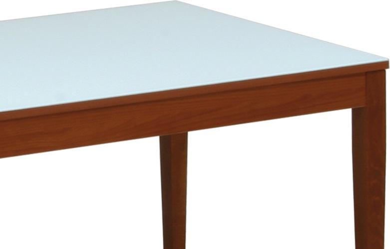Tavolo con piano in vetro alex n for Arredamento ciliegio e bianco